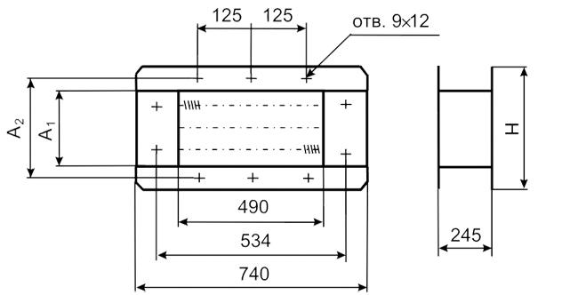 Воздухонагреватели электрические серии ВЭ габаритные размеры