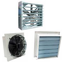 Осевые оконные вентиляторы с жалюзи